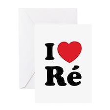 I Love Ile de Ré Greeting Card