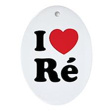 I Love Ile de Ré Ornament (Oval)