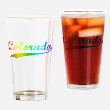 Colorado Rainbow Vintage Drinking Glass