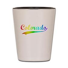 Colorado Rainbow Vintage Shot Glass