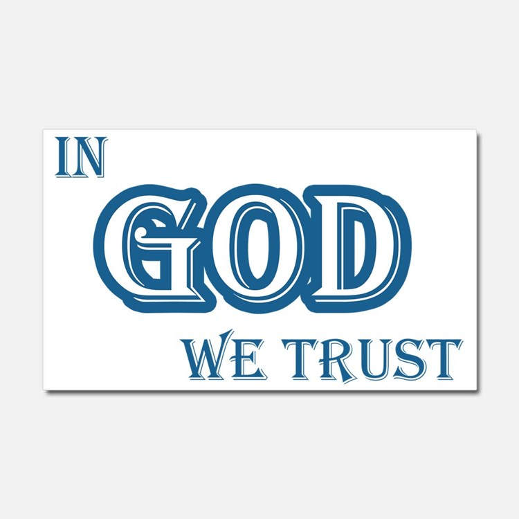 In God We Trust Car Magnet 20 x 12