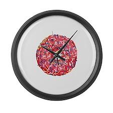 Skull &Bone Sprinkle Donut Large Wall Clock