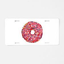 Skull &Bone Sprinkle Donut Aluminum License Plate