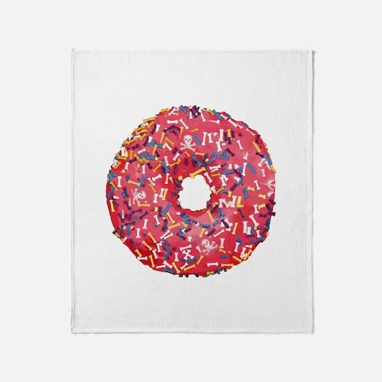 Skull &Bone Sprinkle Donut Throw Blanket