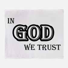 In God We Trust Throw Blanket