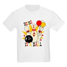 Cute Bowling Pin 6th Birthday T-Shirt