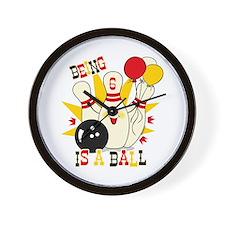 Cute Bowling Pin 6th Birthday Wall Clock