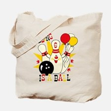 Cute Bowling Pin 6th Birthday Tote Bag