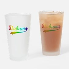 Alabama Rainbow Vintage Drinking Glass