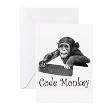 Cute Computer geek linux Greeting Cards (Pk of 10)