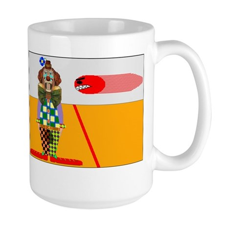 clown playing dodgeball t-shi Large Mug