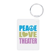 Peace Love Theater Keychains