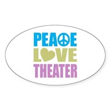 Peace Love Theater Decal