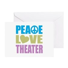 Peace Love Theater Greeting Card