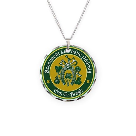 St Patrick's Day Necklace Circle Charm