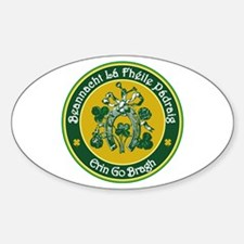 St Patrick's Day Sticker (Oval)