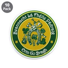 "St Patrick's Day 3.5"" Button (10 pack)"