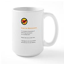 Down for Maintenance Ceramic Mugs
