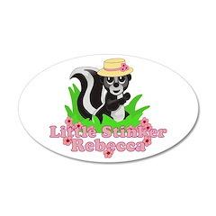 Little Stinker Rebecca 22x14 Oval Wall Peel