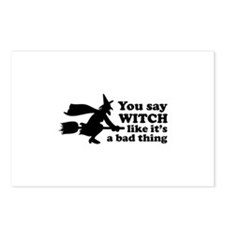 You say witch Postcards (Package of 8)