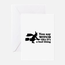 You say witch Greeting Cards (Pk of 20)