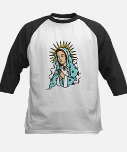 Virgin Mary Kids Baseball Jersey