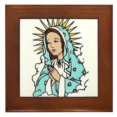 Virgin Mary Framed Tile