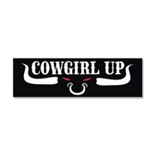 Cowgirl Up Bumper sticker/mag Car Magnet 10 x 3