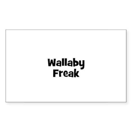 Wallaby Freak Rectangle Sticker