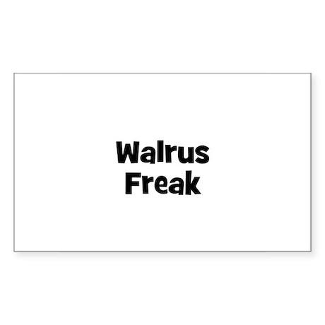 Walrus Freak Rectangle Sticker