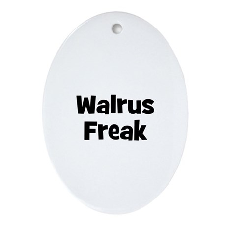 Walrus Freak Oval Ornament