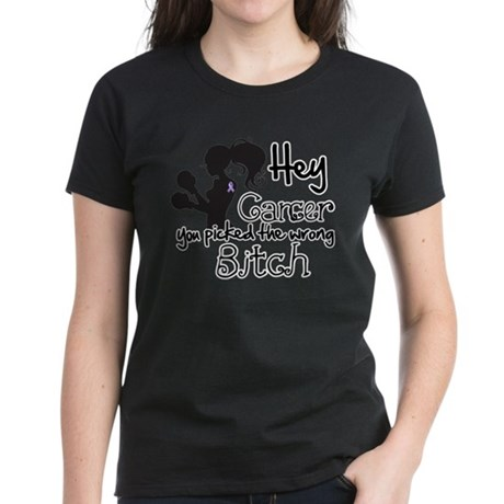 Wrong Bitch Cancer Women's Dark T-Shirt