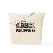 Black Border Text Tote Bag