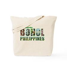 Green Border Text Tote Bag