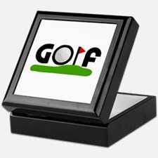 'Golf' Keepsake Box