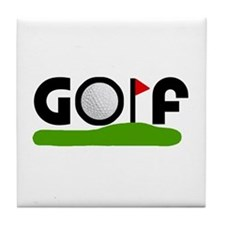'Golf' Tile Coaster