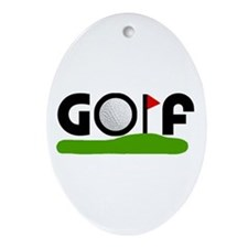 'Golf' Ornament (Oval)