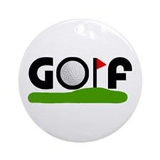 'Golf' Ornament (Round)