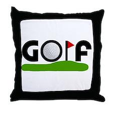 'Golf' Throw Pillow