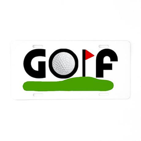 'Golf' Aluminum License Plate