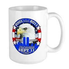 9-11 September 11th 10th Anniversary Mug