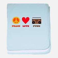 Peace Love Funk baby blanket