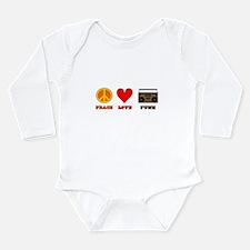 Peace Love Funk Long Sleeve Infant Bodysuit