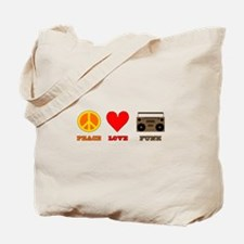 Peace Love Funk Tote Bag