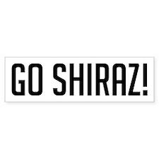 Go Shiraz! Bumper Bumper Sticker