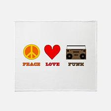 Peace Love Funk Throw Blanket