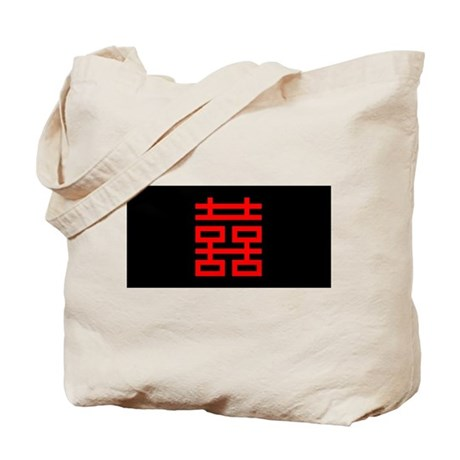 Chinese Double Happiness Tote Bag