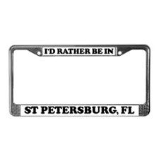 Rather be in St Petersburg License Plate Frame