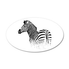 Zebra 22x14 Oval Wall Peel