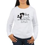 Wrong Bitch Leukemia Women's Long Sleeve T-Shirt